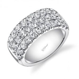 Coast Diamond 2.3CT diamond band WZ5003H with three rows of diamonds