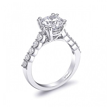 regal coast diamond double prong 2CT engagement ring LC10031