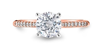 Coast Diamond rose gold solitaire engagement ring LC5388_RG hidden diamond