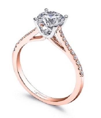 Coast Diamond rose gold solitaire engagement ring LC5388_RG hidden diamond