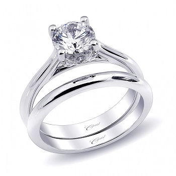 Coast Diamond solitaire wedding set (LC5236_WC5236) surprise diamond gallery