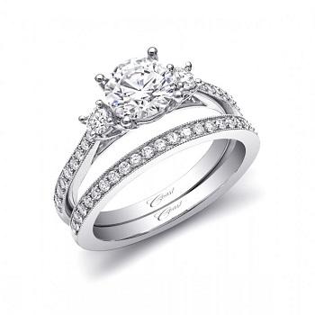 CD LC5375 three stone engagement ring