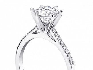 Coast Diamond solitaire engagement ring LC5386 petite prong set diamonds 6 prong setting