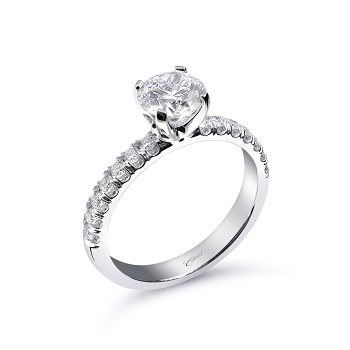 Coast Diamond 1CT solitaire engagement ring LS10005 fishtail-set diamonds