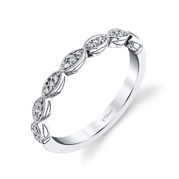 Coast Diamond fashion band WC7034 round diamonds in marquise shapes
