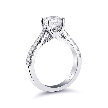 Coast Diamond solitaire engagement ring LZ5001H graduated round diamond band