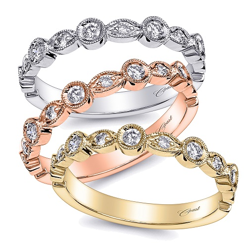 Coast Diamond band LC2023 available in white yellow or rose gold