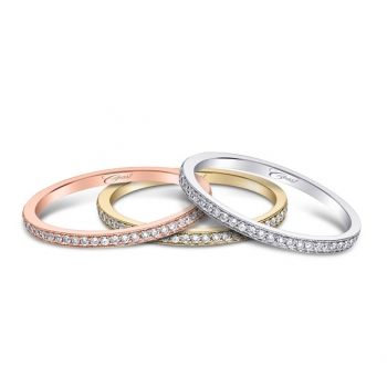 Coast Diamond rose, yellow, or rose gold or platinum wedding band WC5191H