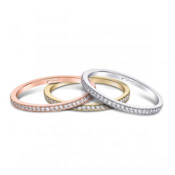 Coast Diamond rose, yellow, or rose gold or platinum wedding band WC5191H