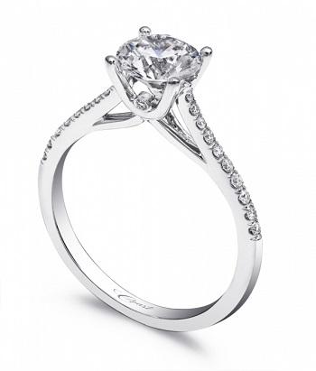 Coast Diamond petite solitaire engagement ring LC5388 hidden diamond