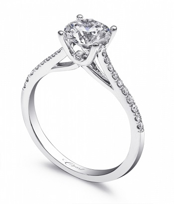 Coast Diamond petite solitaire engagement ring LC5388 hidden diamond