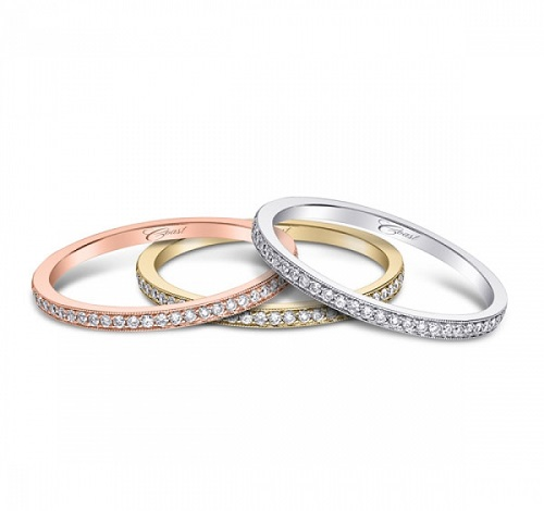 Coast Diamond stackable bands WC5191H rose yellow white gold platinum