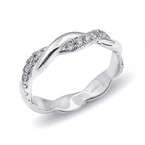 Coast Diamond fishtail set diamond band high polish WC10180