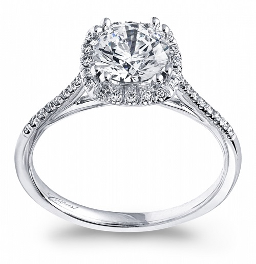 Coast Diamond petite halo engagement ring LC5390