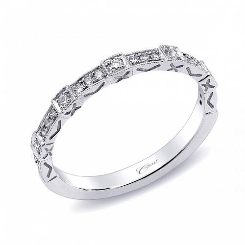 Coast Diamond ornate diamond band WC10156H milgrain edging