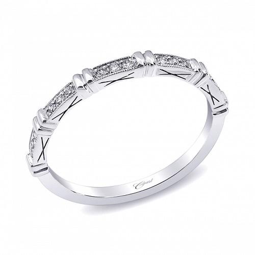 Coast Diamond high polished diamond band pave WC10194H