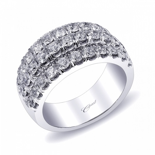 Coast Diamond three row 1.86CT diamond band WZ5012H