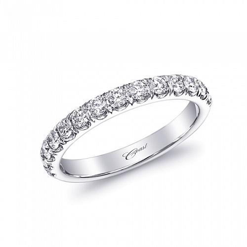 Coast Diamond wedding band WC5181 0.50CT fishtail set diamonds