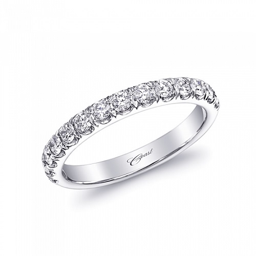 Coast Diamond wedding band WC5181 0.50CT fishtail set diamonds