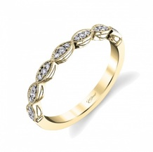 Coast Diamond band round diamonds in marquise shapes WC7034-YG yellow gold