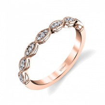 Coast Diamond band round diamonds in marquise shapes WC7034-RG rose gold