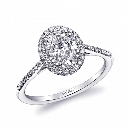 Coast Diamond oval halo engagement ring LC5410-OV