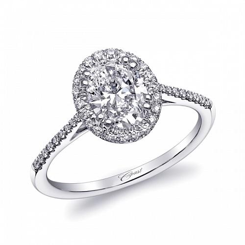 Coast Diamond oval halo engagement ring LC5410-OV