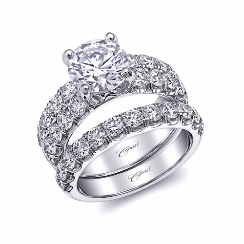 Coast Diamond 2 carat engagement ring LJ6023 2 rows 1.53 carat diamond band