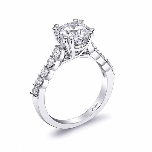Coast Diamond 2 carat solitaire engagement ring LC10031 half carat diamond band