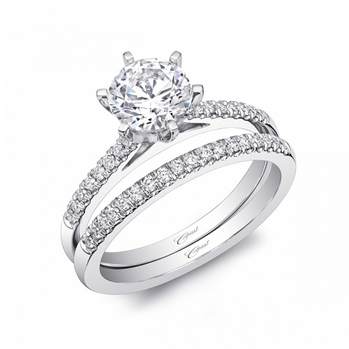 Coast Diamond 6 prong wedding set LC5386_WC5386