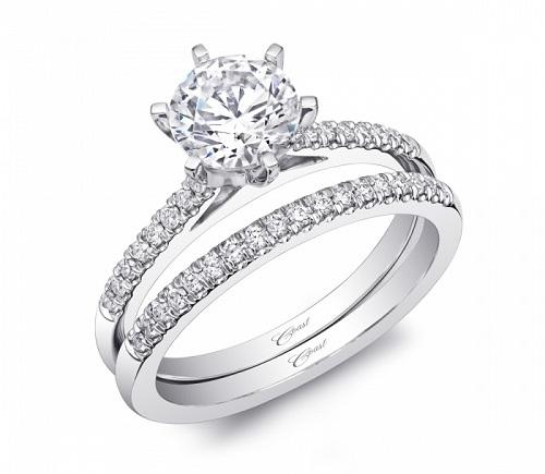 Coast Diamond 6 prong wedding set LC5386_WC5386