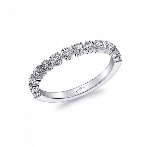Coast Diamond band WC10155H decorative square and round milgrain edging