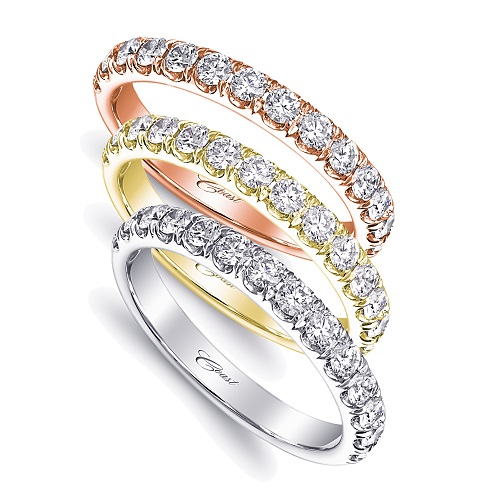 Coast Diamond 0.49 carat band WC5181H rose yellow white gold platinum