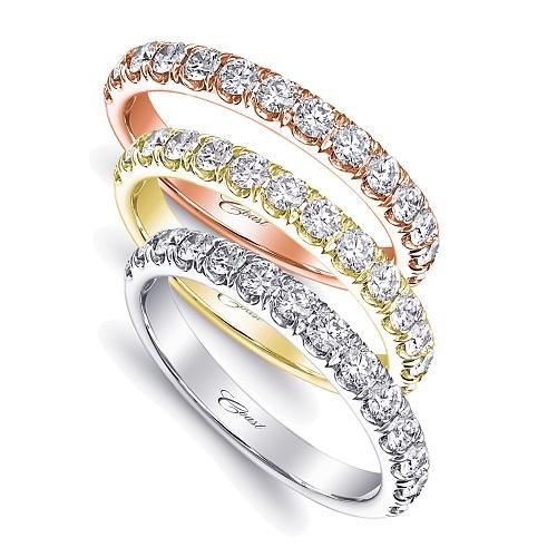 Coast Diamond 0.49 carat band WC5181H rose yellow white gold platinum