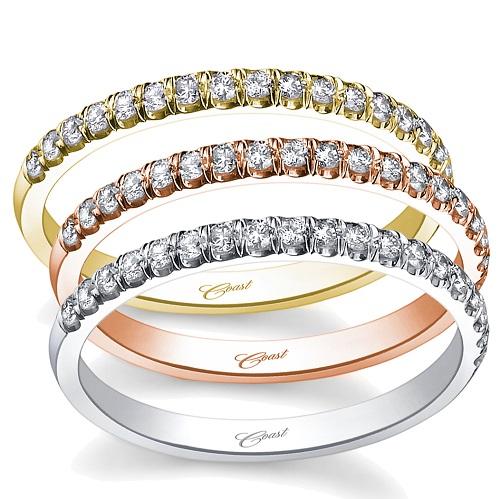 Coast Diamond 0.18 carat band WC5183H rose yellow white gold platinum
