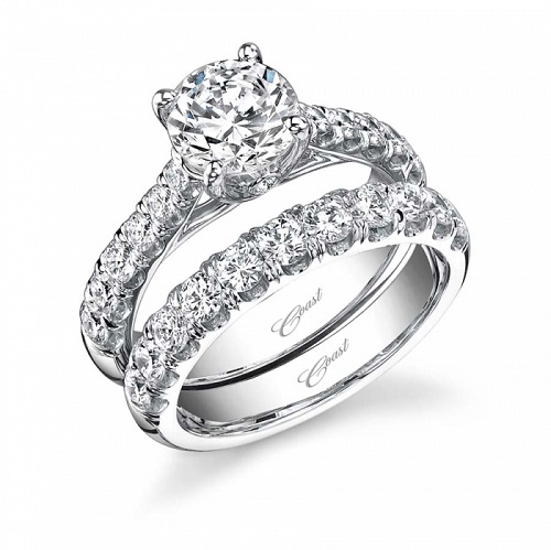 Coast Diamond engagement ring LZ5001H graduated diamonds peek-a-boo diamond