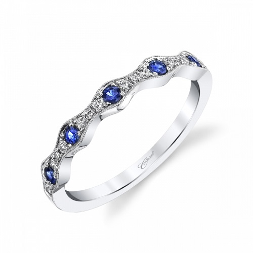 Coast Diamond sapphire and diamond band WC7040-S