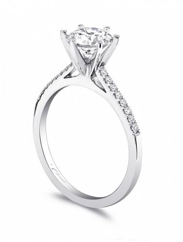 Coast Diamond petite six prong engagement ring LC5386