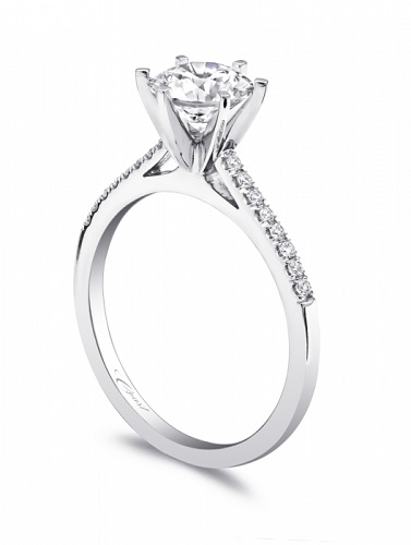 Coast Diamond petite six prong engagement ring LC5386