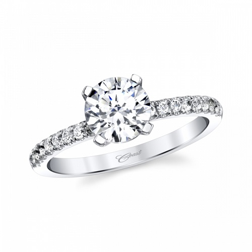 Coast Diamond delicate solitaire engagement ring LC6125