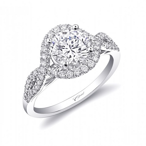 Coast Diamond twisting halo engagement ring LC5449 1.5 carat