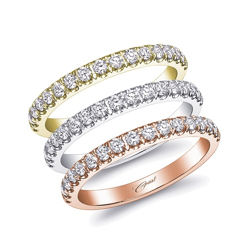 Coast Diamond 0.30 carat band WC5180H rose yellow white gold platinum