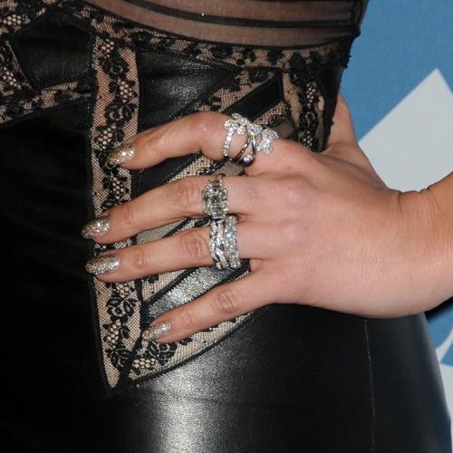 Jennifer Lopez Multi Rings diamond bands (Image: Jen Lowry, Splash News)
