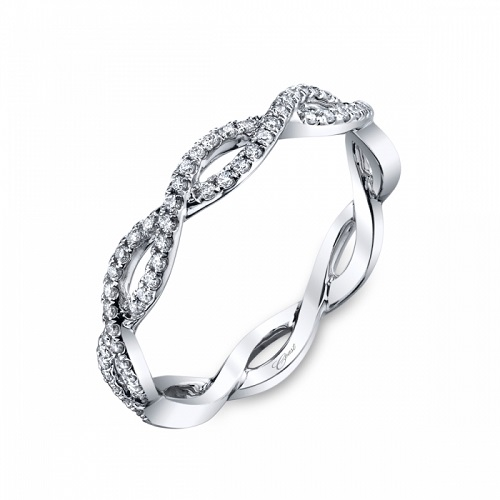 Coast Diamond woven fashion band WC10306H platinum white gold