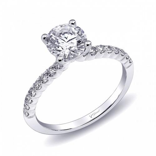 Coast Diamond scalloped engagement ring LC10186