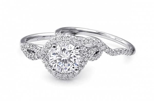 Coast Diamond 1.5 carat engagement ring LC5449 twisting halo