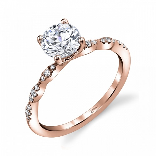 Coast Diamond scalloped engagement ring LC6101 rose gold