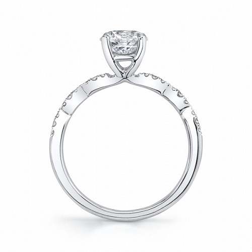 Coast Diamond scalloped engagement ring LC6101 platinum side view