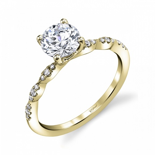 Coast Diamond scalloped engagement ring LC6101 yellow gold