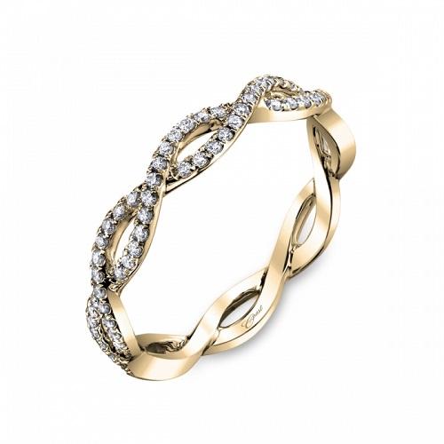Coast Diamond woven band WC10306H yellow gold